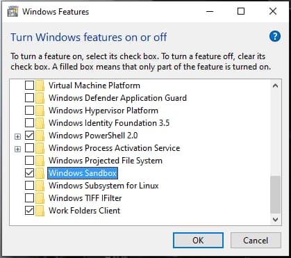 شرح sandbox النظام وهمي على ويندوز 10 و كيف تشغيله وتفعيله