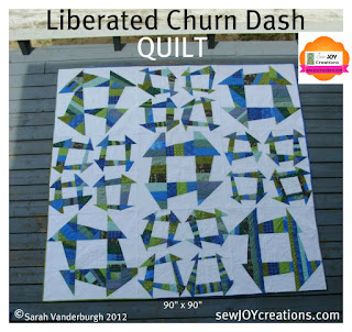 liberated churn dash quilt pattern cover