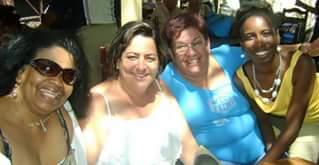 Reglita Llorente, Noelis Santoyo, Maritza Tejera y Arianna Oviedo