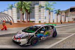 Honda Jazz Neko Graffiti Itasha