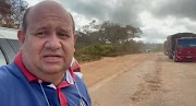 Fred Maia grava vídeo e pede ao ministro de Infraestrutura a recuperação de trecho da BR-226 no Maranhão.