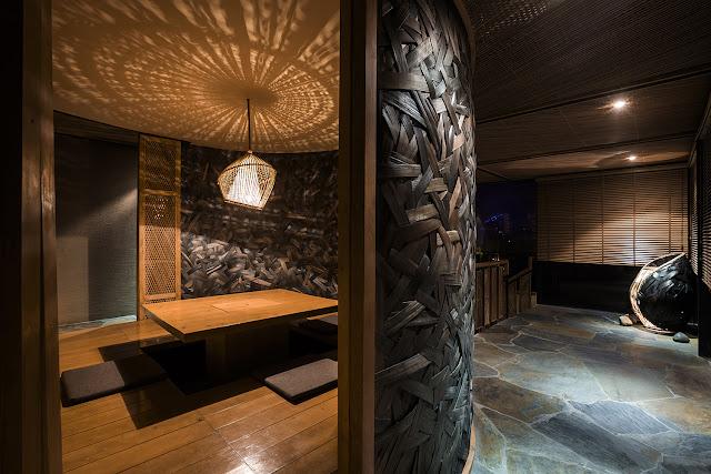 Green Pear Diaries, interiorismo, restaurante japonés, Kimono, Hanói, Vietnam