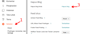 Cara Menghapus Blog dan Mengembalikannya