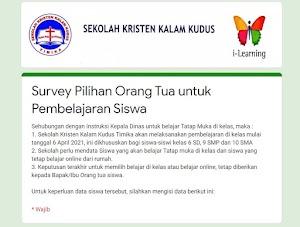 Survey Pilihan Orang Tua dan Surat Pernyataan