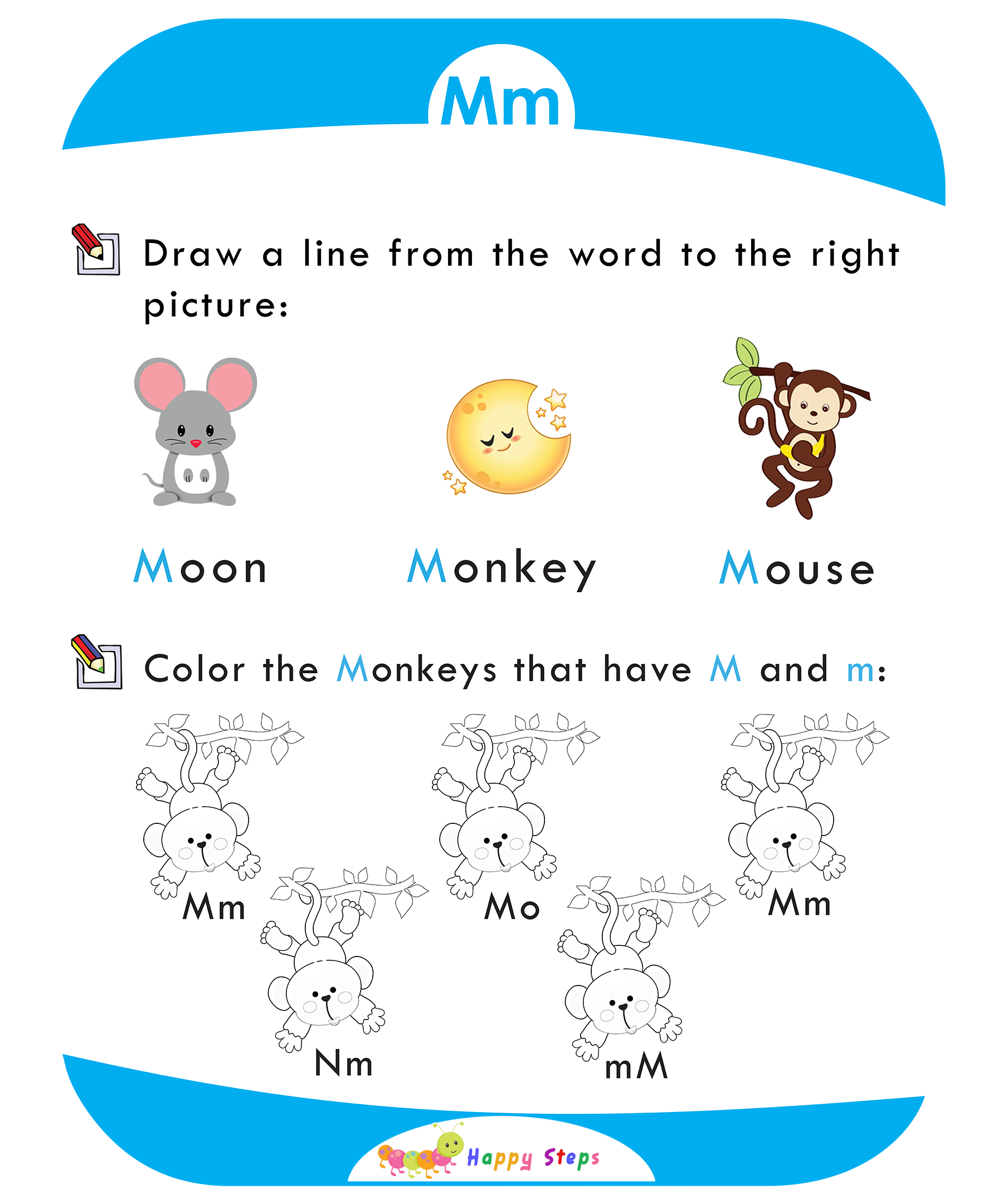 Activity Worksheet 1 Letter M