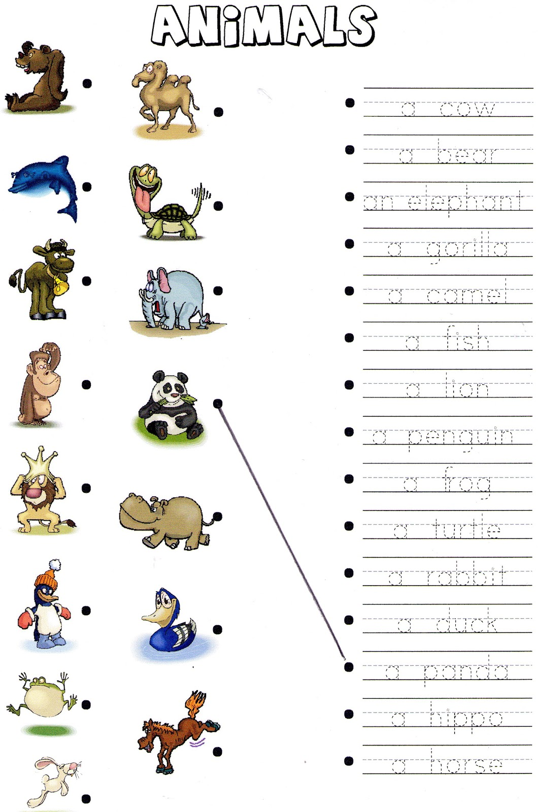 Farm Animal Worksheet