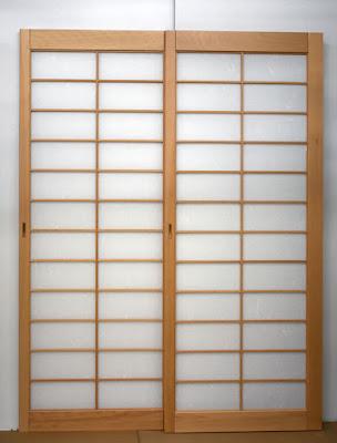 Shoji bedroom double pocket doors