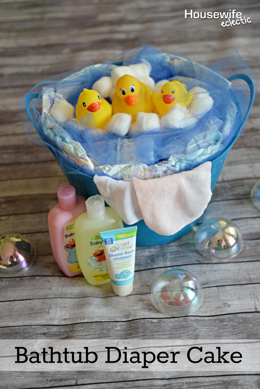 Bathtub Diaper Cake Housewife Eclectic