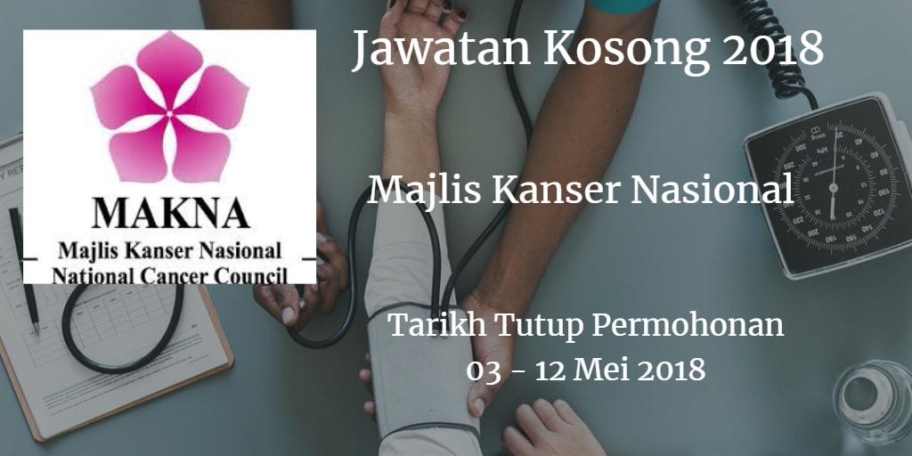 Jawatan Kosong MAKNA 03 - 12 Mei 2018