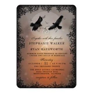 Halloween Ravens Together With Wording Wedding Invitation Template