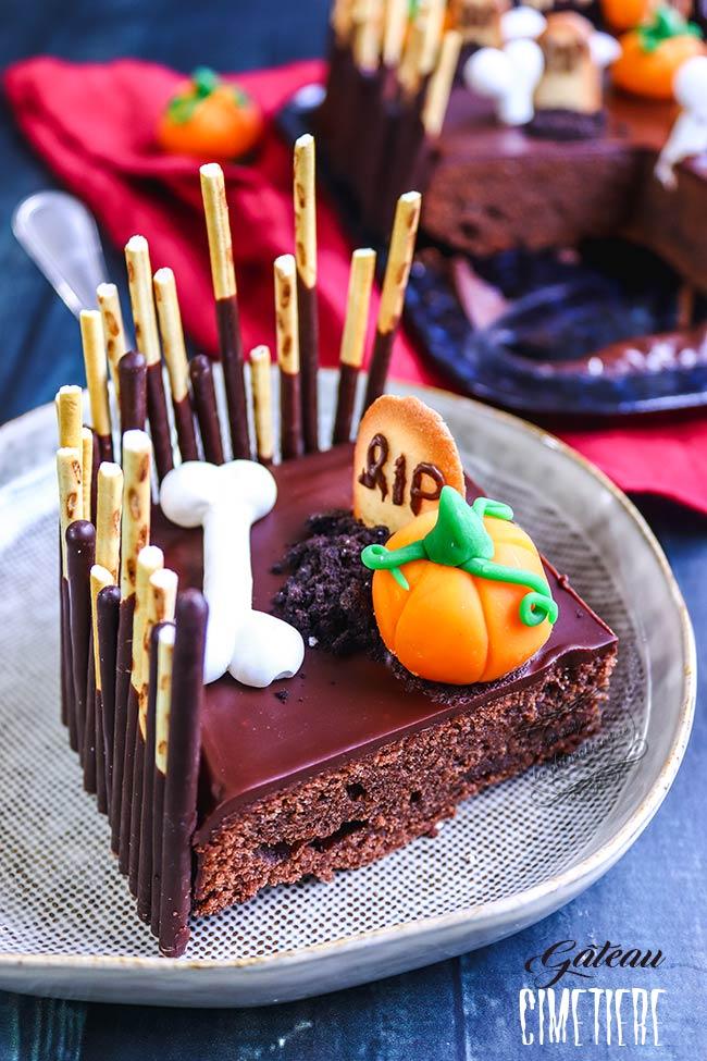 gateau cimetière au chocolat