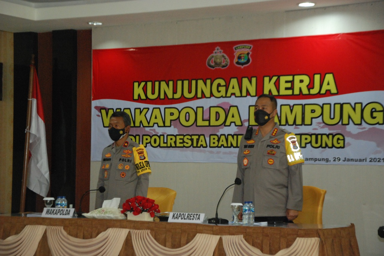 Wakapolda Lampung Kunjungan Kerja Ke Polresta Bandar Lampung