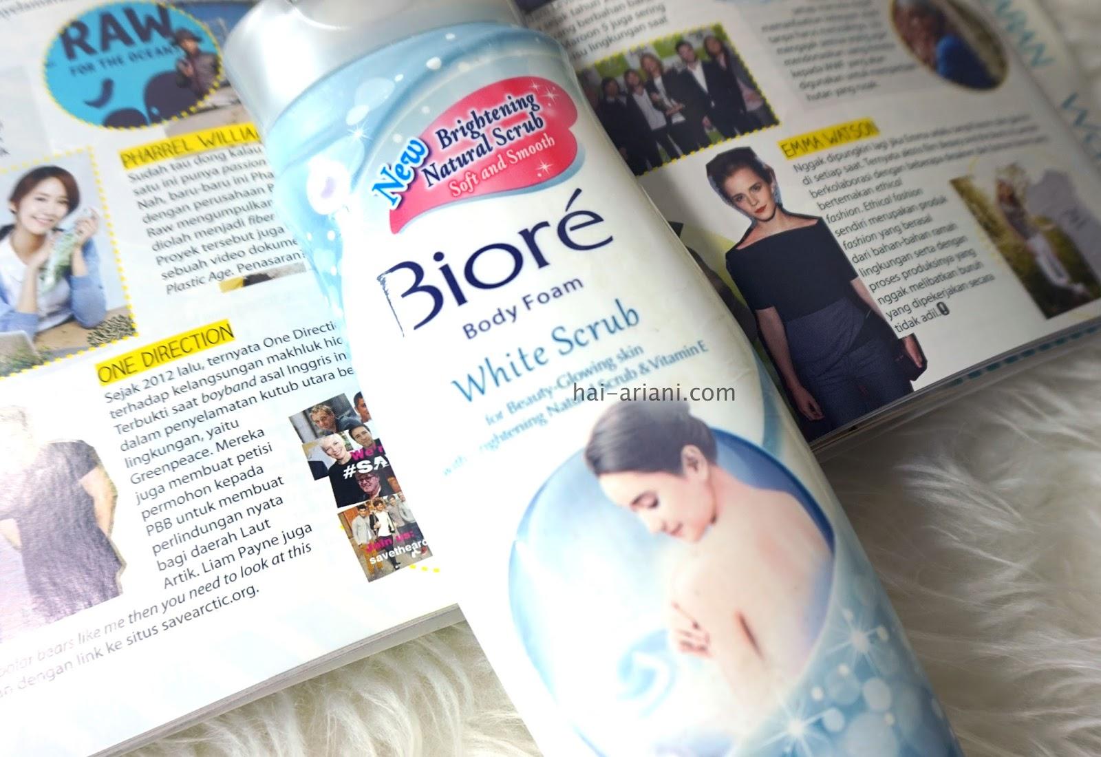 BIORE BODY FOAM WHITE SCRUB REVIEW