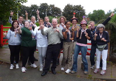 The competitors from the first-ever Finger Jousting Championships held on UK soil back at the 2012 World Alternative Games