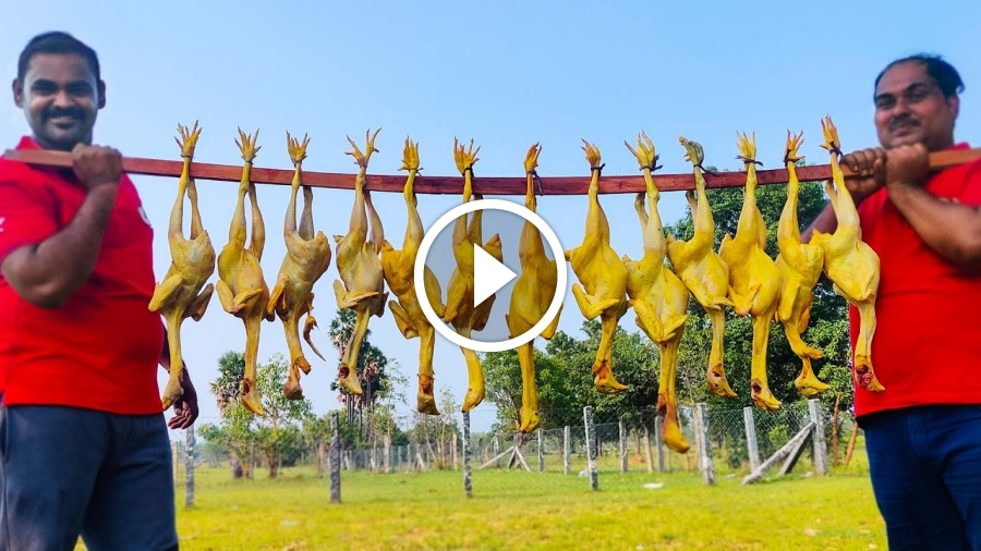 PALAK CHICKEN | Country Chicken Palak Recipe | Nattu Kozhi Spinach Chicken Recipe | World Food Tube