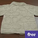 Upscale Baby Cardigan (free)