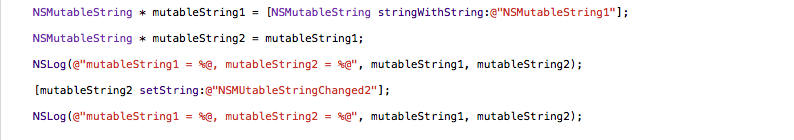 NSMutableString Code