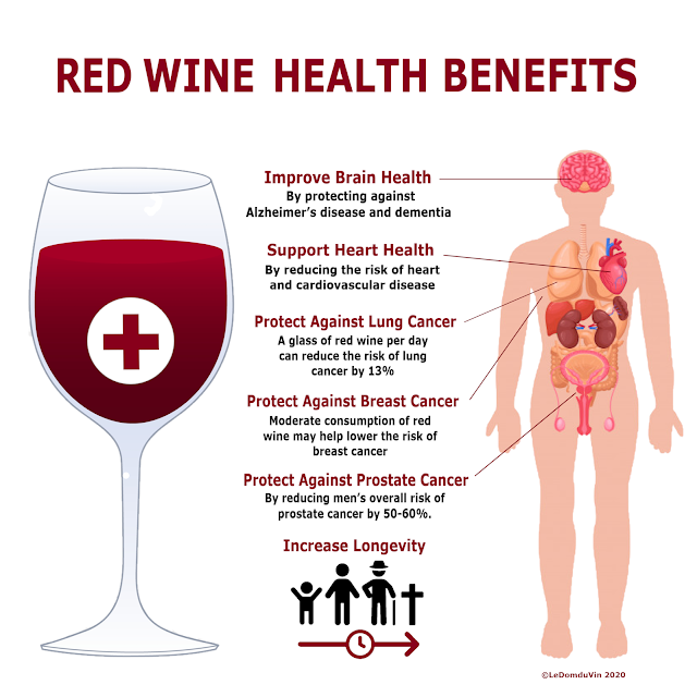 Red Wine Health Benefits by ©LeDomduVin 2020