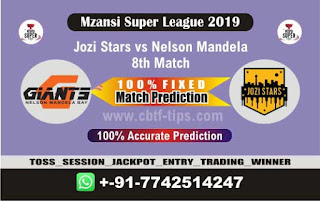 Who will win Today MSL 2019, 8th Match Nelson vs Jozi 8th, Mzansi 2019 - MSL T20
