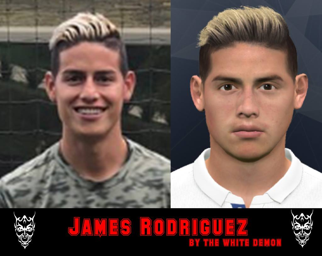 James Rodriguez New Hair PES 2017 by The White Demon