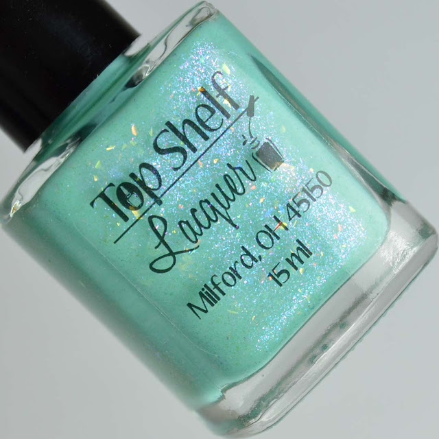 mint flakie nail polish