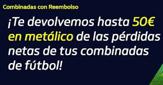 william hill Reembolso de hasta 50€ en metálico hasta 13-12-2020