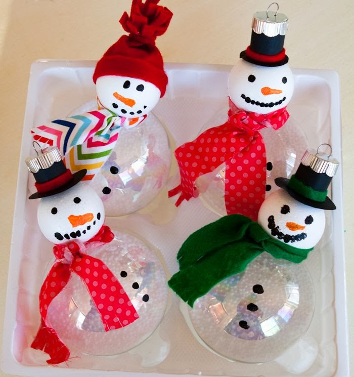 Kid Clear Plastic Ornament Craft Ideas