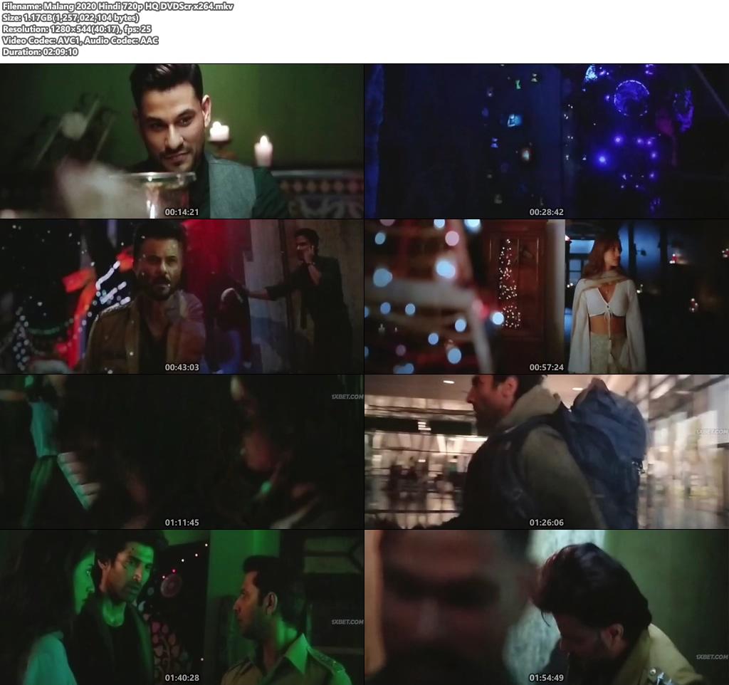 Malang 2020 Hindi 720p HQ DVDScr x264 | 480p 300MB | 100MB HEVC Screenshot
