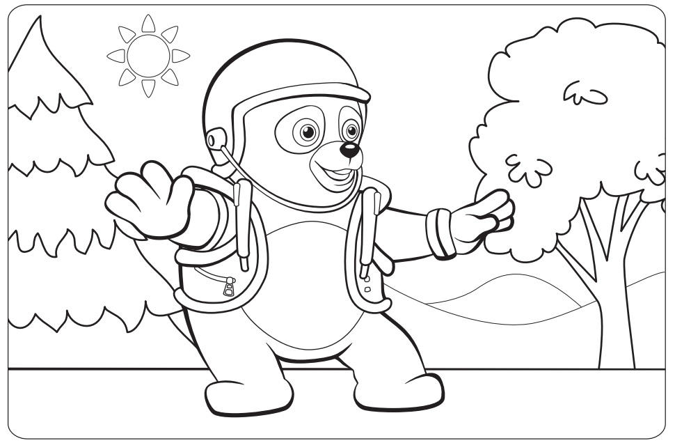 Dibujos Para Colorear Disney Channel: Oso: Agente Especial, Playhouse Disney Channel, Disney