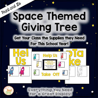 This Space Themed Giving Tree is perfect to get your supplies for Back-to-School Nite or Open House!
