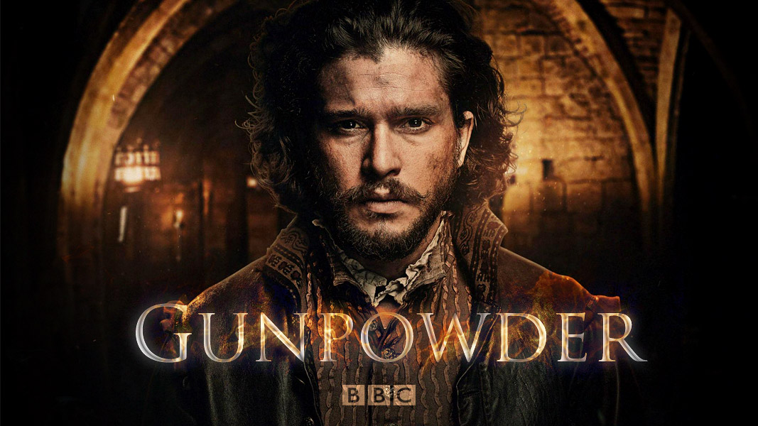 Kit Harrington en el poster de Gunpowder, de la BBC