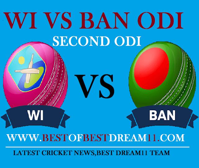 wi vs ban second odi