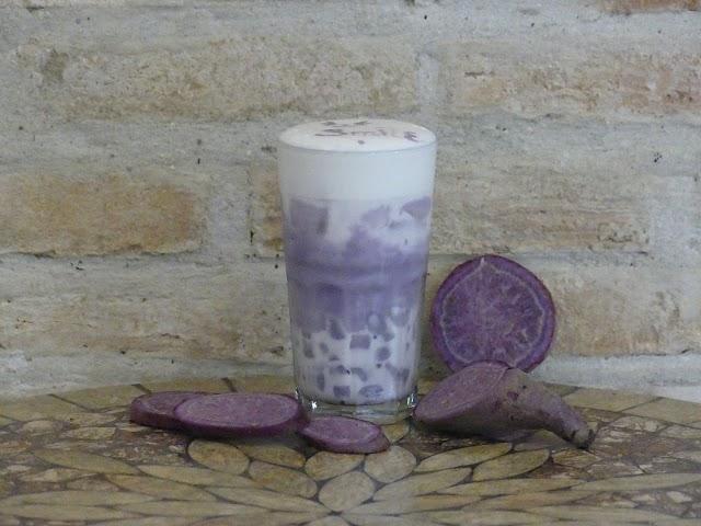 Sinh tố khoai lang tím đậm đà ở cà phê An Miên