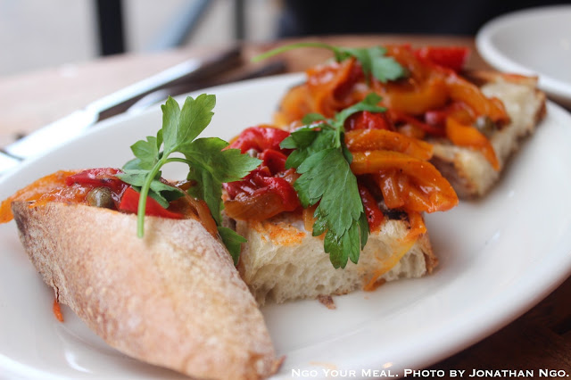 Bruschetta with Peppers at Barbuto