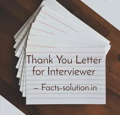 Thank You Letter for Interviewer