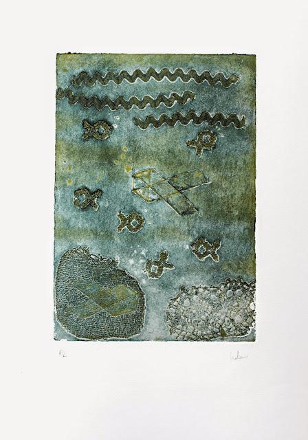 S/T, collagraph realizado por Indra Ruiz - Yoviendo Árboles