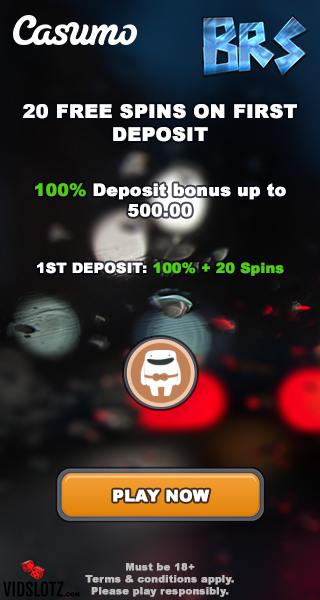 Casumo 20 free spins after first deposit bonus