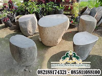 Meja Taman Batu Alam, Dekorasi Taman Batu Kali