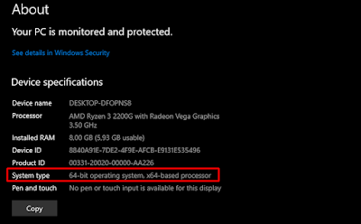 Cek Sistem Tipe Windows 32-bit atau 64-bit