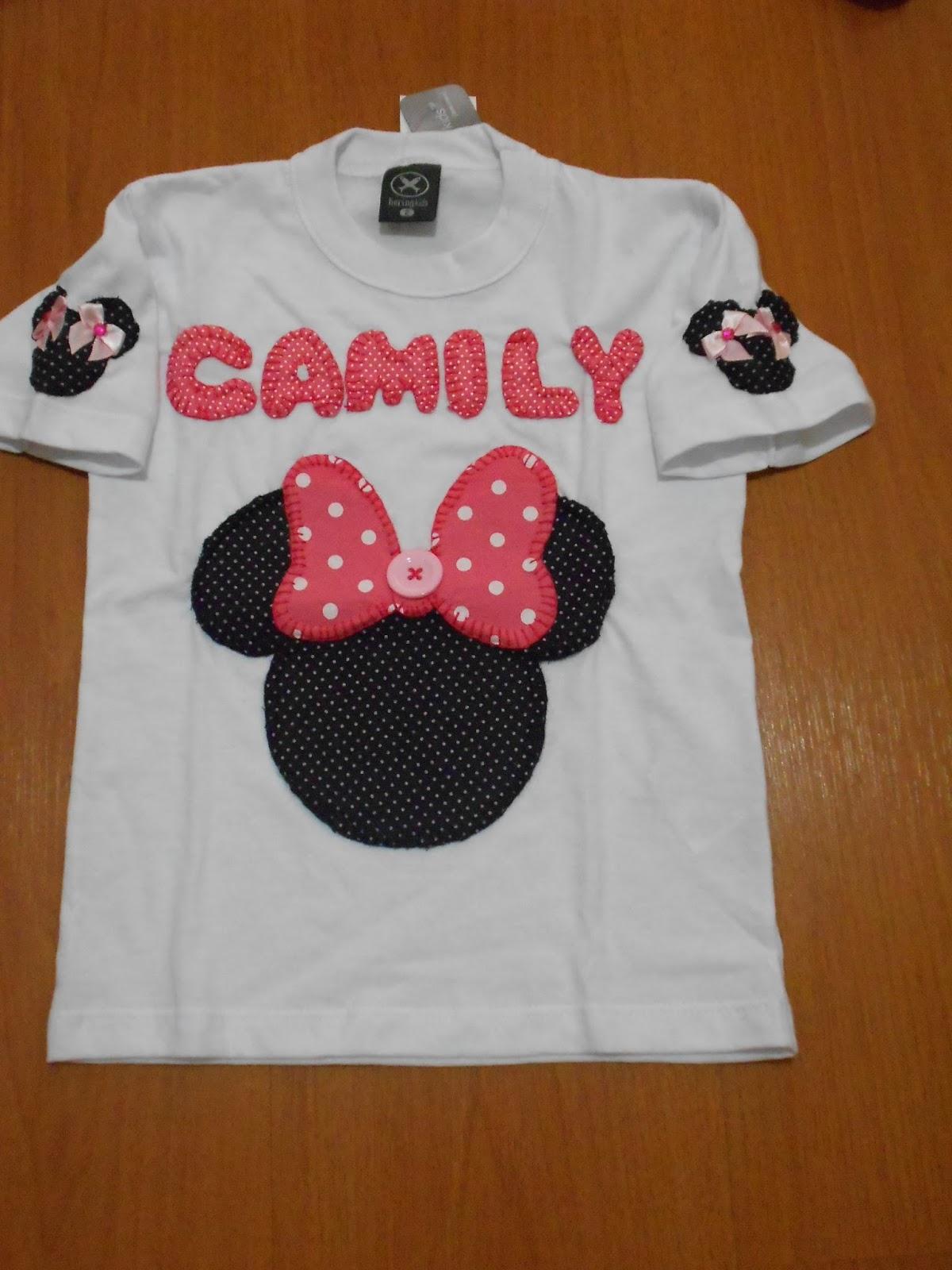 1a52a95602 Ateliê da Anderlene  Camiseta Personalizada Mickey e Minnie