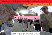 Cooperative Milk Producers Federation Limited Recruitment 2017–Extension Officer, Executive