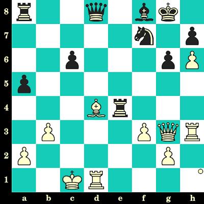 Les Blancs jouent et matent en 2 coups - Michel Jadoul vs Gordon Plomp, Belgique, 2003