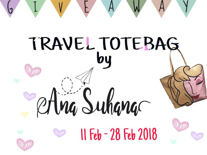 Giveaway : Travel Totebag By Ana Suhana