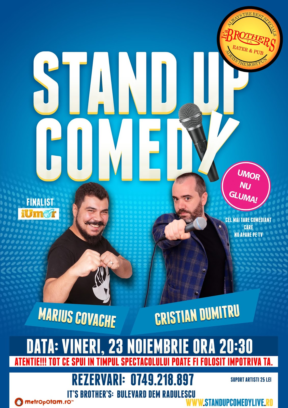 Stand-Up Comedy Valcea Vineri 23 Noiembrie