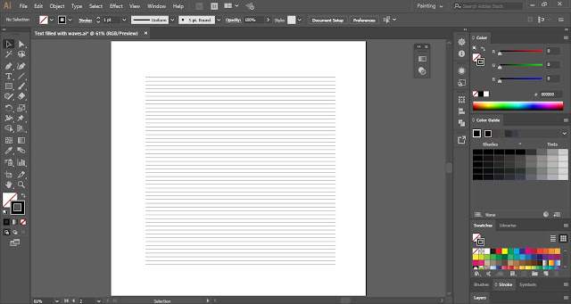 Text with Wavy Lines in Adobe Illustrator