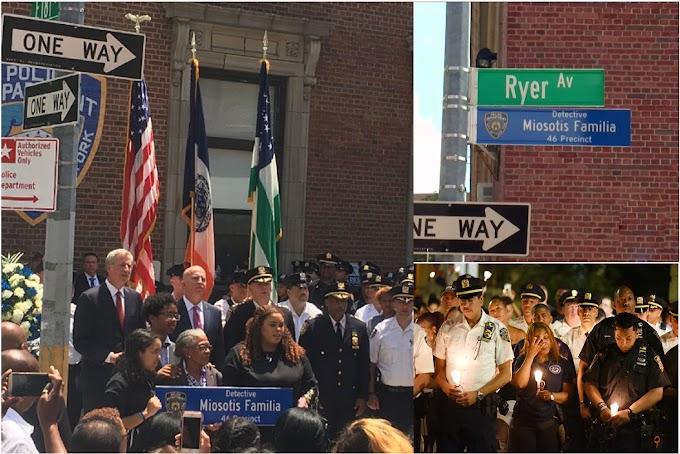 Cientos tributan homenaje a policía dominicana asesinada hace un año en renombramiento de calle en El Bronx