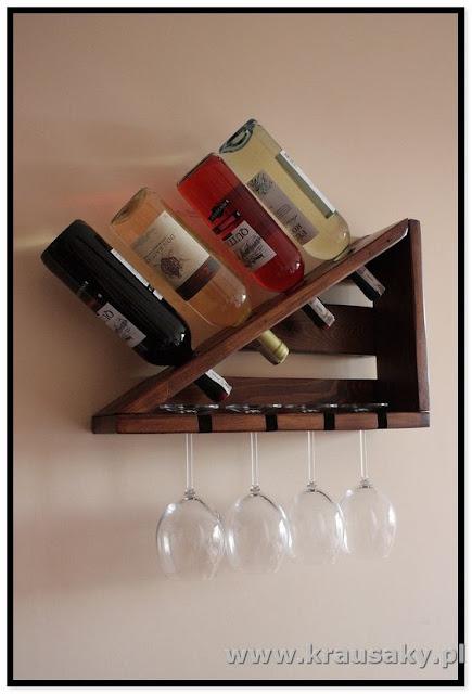 porta vinhos e taças diy