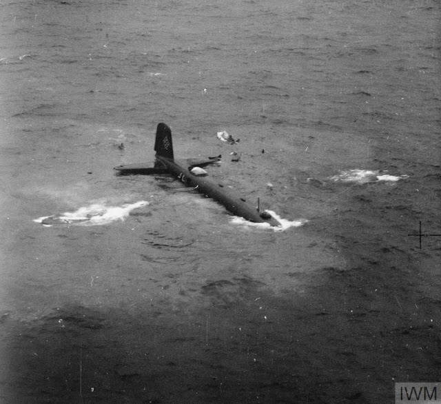 Focke-Wulf Fw 200 Kondor sinking in the Atlantic Ocean, 23 July 1941 worldwartwo.filminspector.com