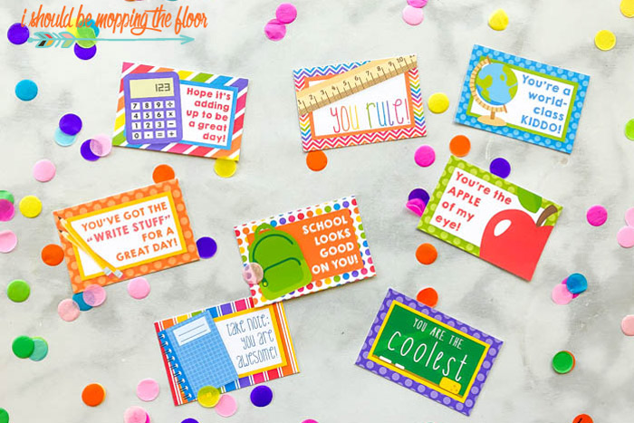 Lunch Box Cards