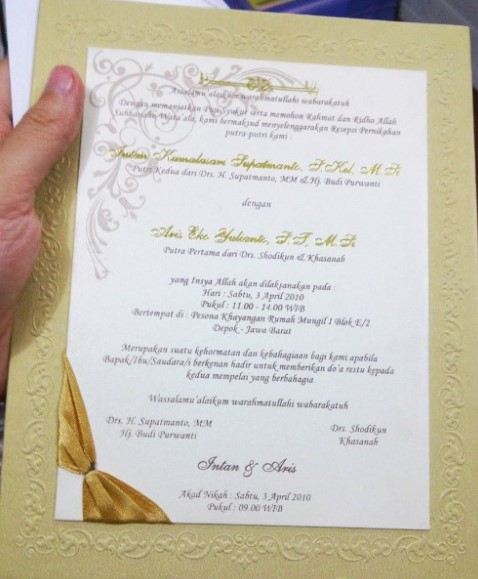 Contoh Kata Kata Undangan Pernikahan : contoh, undangan, pernikahan, Contoh, Desain, Kata-Kata, Dalam, Undangan, Pernikahan, Islami